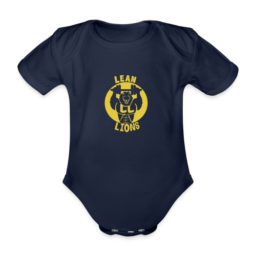 Lean Lions Merch - Organic Short-sleeved Baby Bodysuit