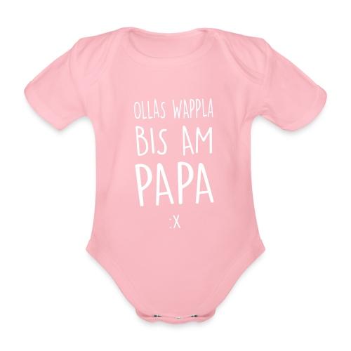 Vorschau: Ollas Wappla bis am Papa - Baby Bio-Kurzarm-Body