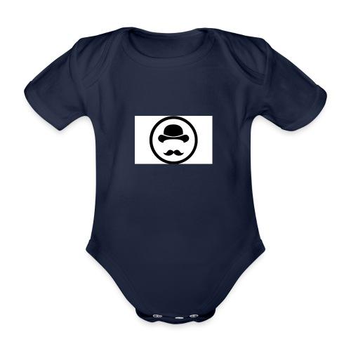Bigote Logo La Trompa - Body orgánico de maga corta para bebé