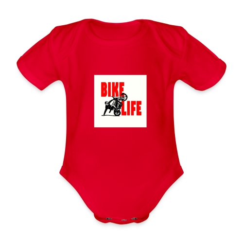 KEEP IT BIKELIFE - Organic Short-sleeved Baby Bodysuit