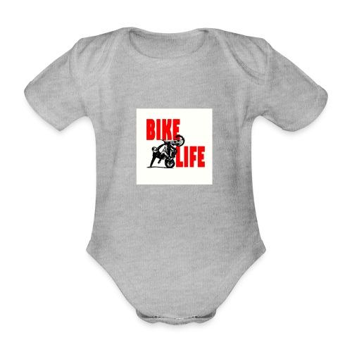 KEEP IT BIKELIFE - Organic Short-sleeved Baby Bodysuit