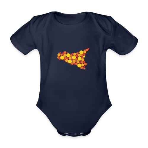 logo sicilia piccolo - Body ecologico per neonato a manica corta