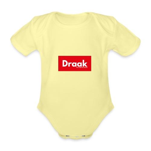 Draak League Spartan - Baby bio-rompertje met korte mouwen