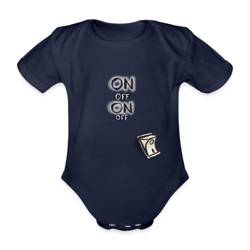 ON OFF Schalter - Baby Bio-Kurzarm-Body