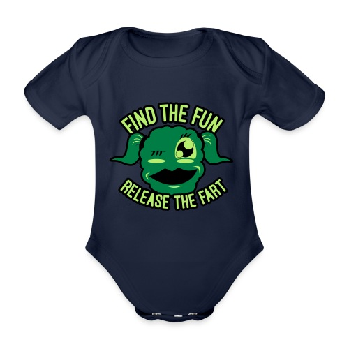 #GirlsOnly: Find The Fun - Release the Fart - Kortærmet babybody, økologisk bomuld