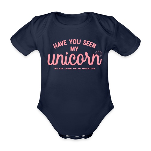 Unicorn pink - Organic Short-sleeved Baby Bodysuit