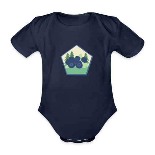 The blueberry forest - Ekologisk kortärmad babybody