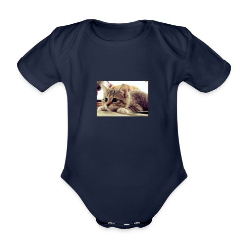gato tierno - Body orgánico de manga corta para bebé