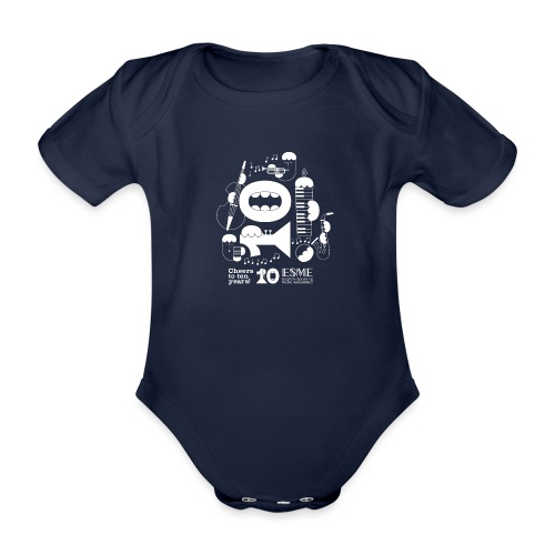 ESME Anniversary Design Weiss - Baby Bio-Kurzarm-Body