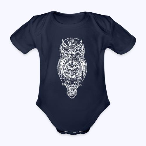 Eule - Baby Bio-Kurzarm-Body