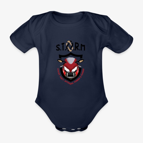 Stolen Theft Offended Robbed Mugged - Organic Short-sleeved Baby Bodysuit