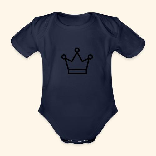 The Queen - Kortærmet babybody, økologisk bomuld