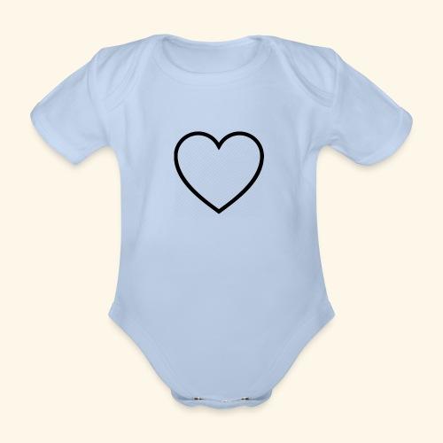 heart 512 - Kortærmet babybody, økologisk bomuld