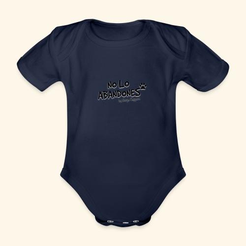 noloabandones negro - Body orgánico de maga corta para bebé