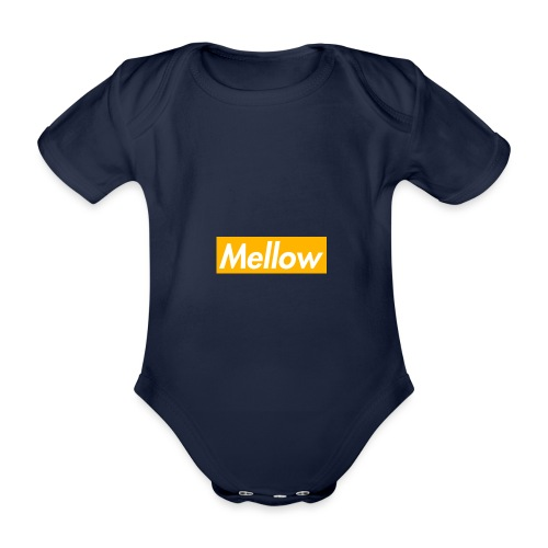 Mellow Orange - Organic Short-sleeved Baby Bodysuit