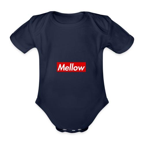 Mellow Red - Organic Short-sleeved Baby Bodysuit