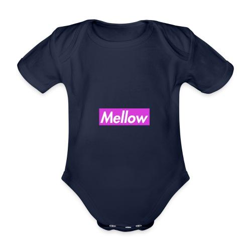 Mellow Purple - Organic Short-sleeved Baby Bodysuit