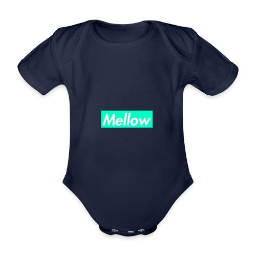 Mellow Light Blue - Organic Short-sleeved Baby Bodysuit