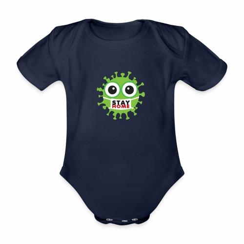 Stay at home, zostań w domu - Ekologiczne body niemowlęce z krótkim rękawem