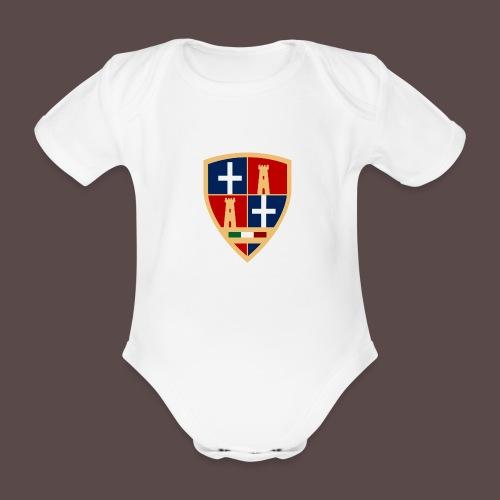 Sardegna - Stemma Sassari - Body ecologico per neonato a manica corta