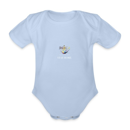 stay home04 - Baby Bio-Kurzarm-Body