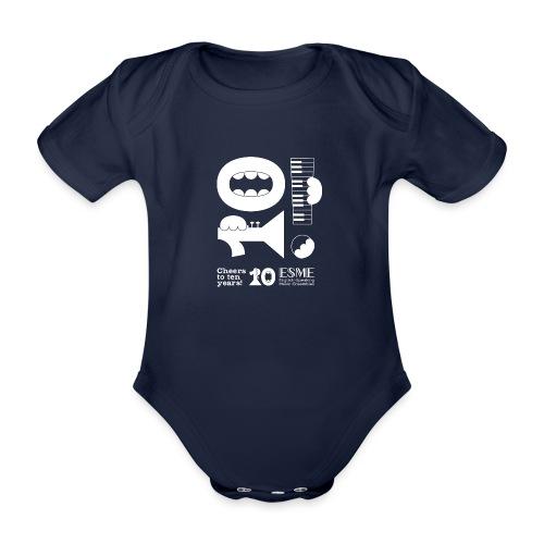 ESME Anniversary Simple Design Weiss - Baby Bio-Kurzarm-Body