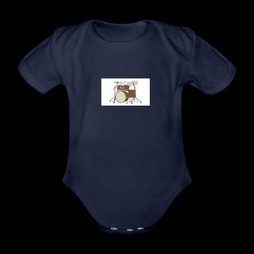 bongo cattttttttttt - Organic Short-sleeved Baby Bodysuit