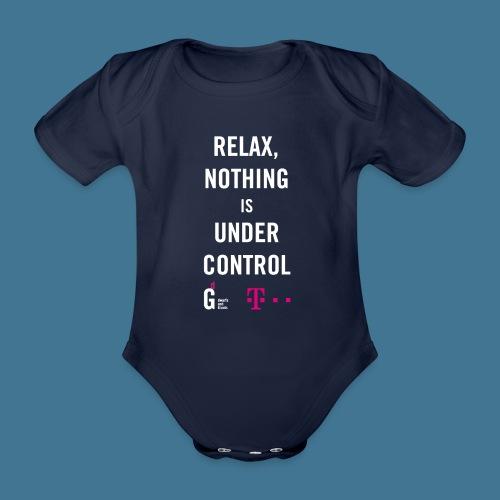 Relax weiss telekom - Baby Bio-Kurzarm-Body