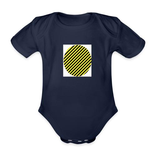 varninggulsvart - Ekologisk kortärmad babybody