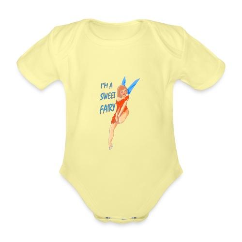 Sweet Fairy - Body ecologico per neonato a manica corta