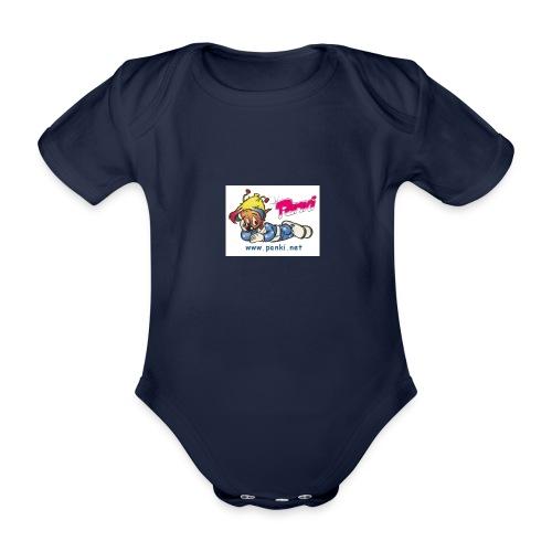 panki sticker neu - Baby Bio-Kurzarm-Body