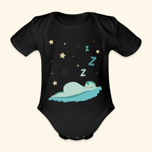 sloth - Organic Short-sleeved Baby Bodysuit