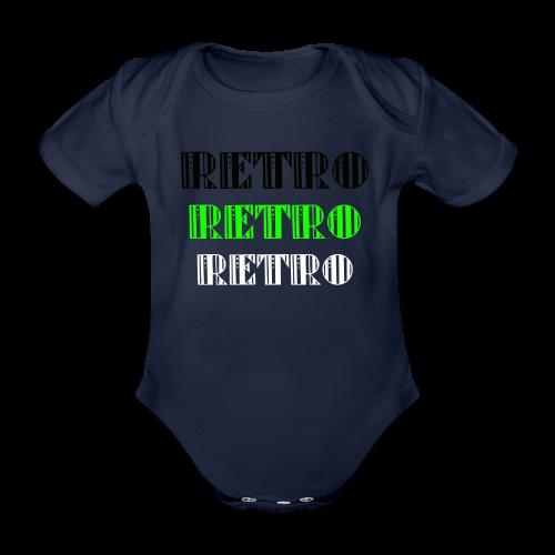 Retro Collections - Økologisk kortermet baby-body