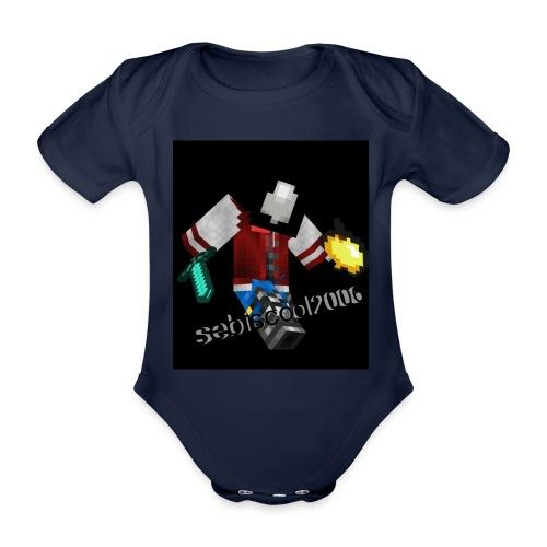 Sebastian yt - Kortærmet babybody, økologisk bomuld