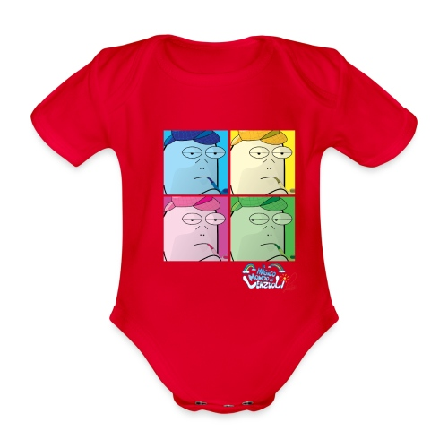 Commissario Warhol - Body ecologico per neonato a manica corta