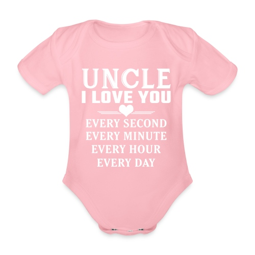 I Love You Uncle - Organic Short-sleeved Baby Bodysuit