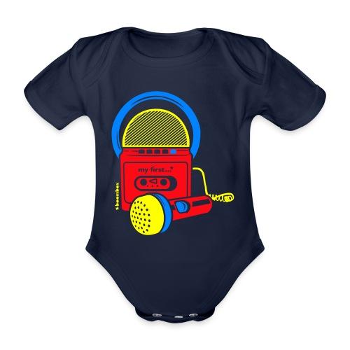My first Boombox - Baby bio-rompertje met korte mouwen