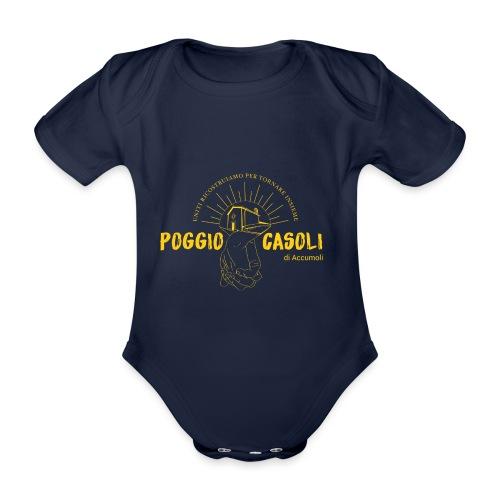 Poggio Casoli_Istituzionale_Giallo - Body ecologico per neonato a manica corta