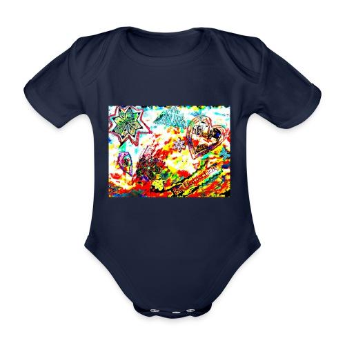 Canción de amor - Body orgánico de maga corta para bebé
