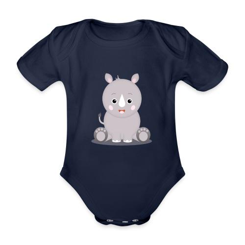 Baby Nashorn Nika - Baby Bio-Kurzarm-Body