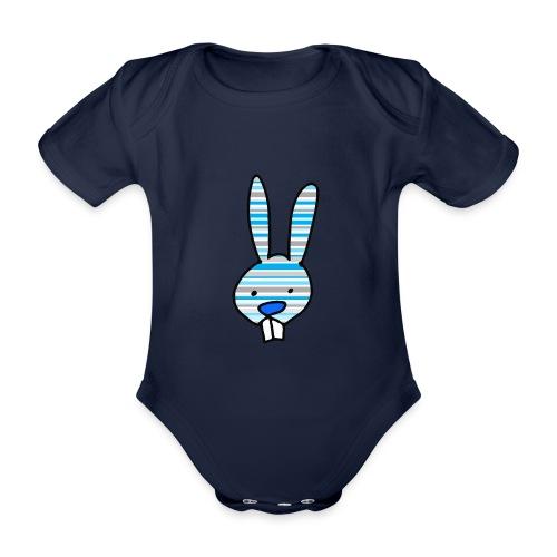 konijn cartoon - Baby bio-rompertje met korte mouwen