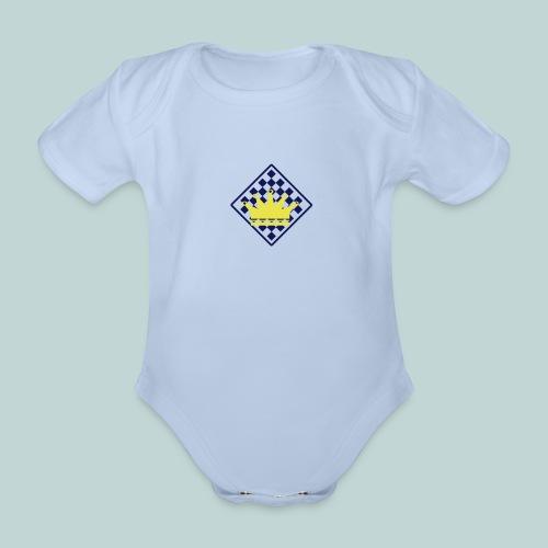 schachbrett_mit_rand - Baby Bio-Kurzarm-Body