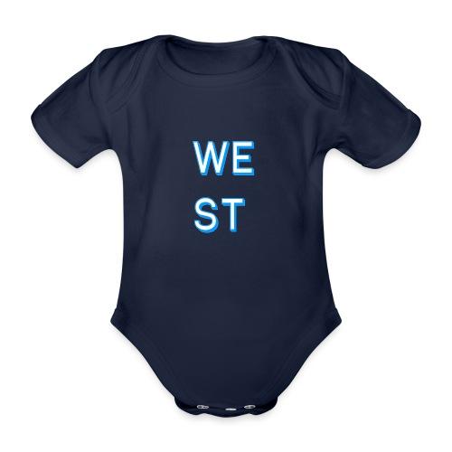 WEST LOGO - Body ecologico per neonato a manica corta