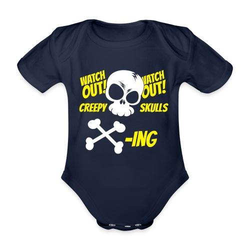 Skulls Crossing - Organic Short-sleeved Baby Bodysuit