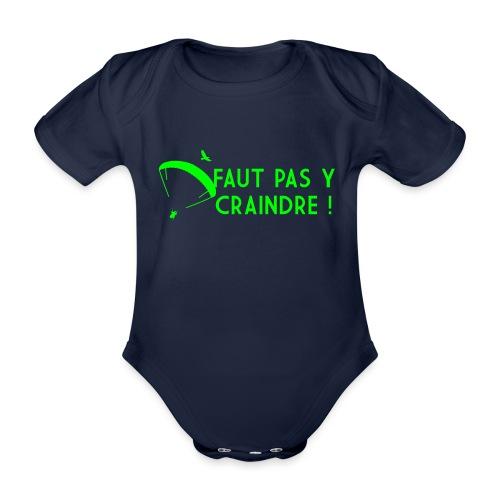 Faut pas y craindre - Parapente - Body Bébé bio manches courtes
