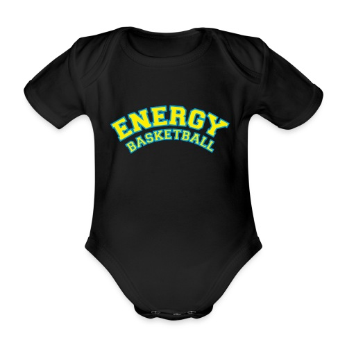 eco logo energy basketball giallo - Body ecologico per neonato a manica corta