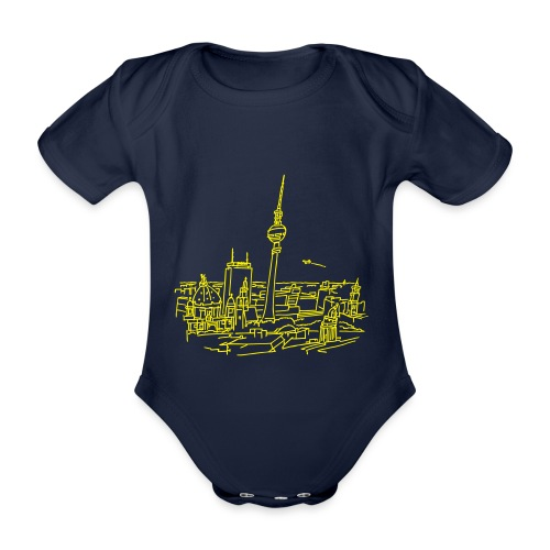 Berlin Panorama - Ekologiczne body niemowlęce z krótkim rękawem