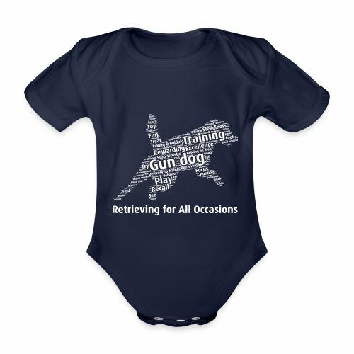 Retrieving for All Occasions wordcloud vitt - Ekologisk kortärmad babybody