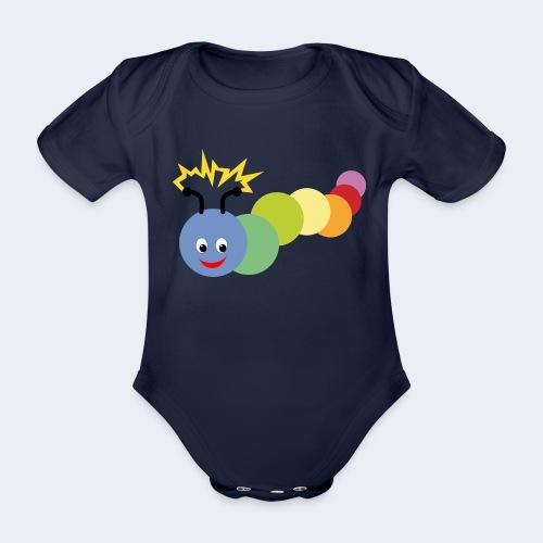 Stromer Raupe bunt - Baby Bio-Kurzarm-Body