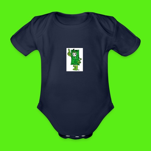 money jpeg - Organic Short-sleeved Baby Bodysuit